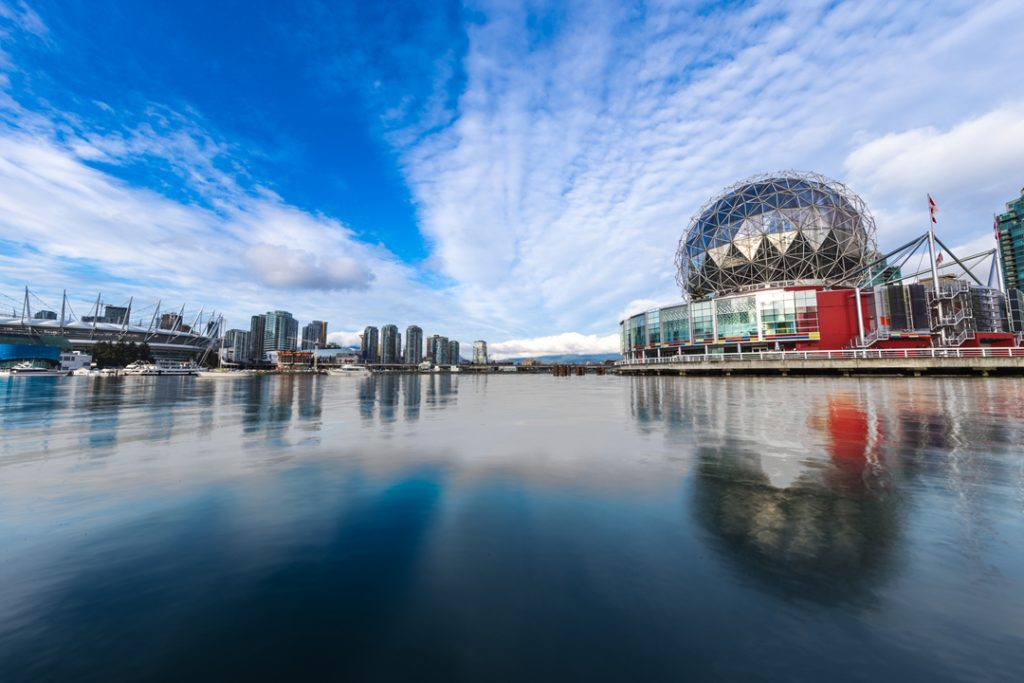 Image of False Creek and Science World