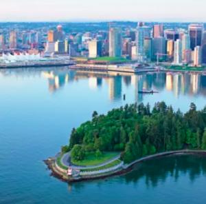 Aerial of Stanley Park