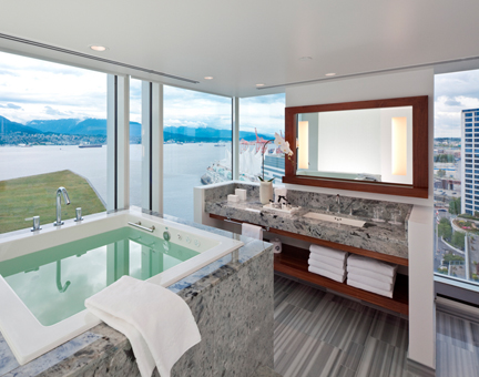 Image of bathroom overlooking ocean